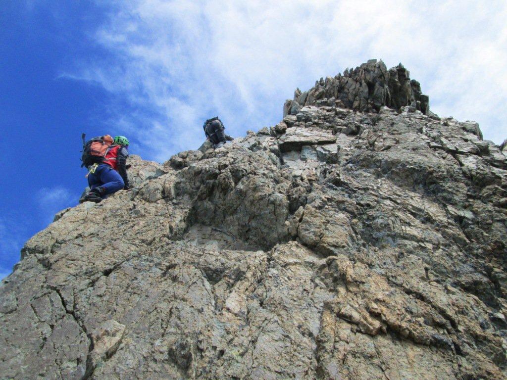 scalata dei torrioni sulla cresta