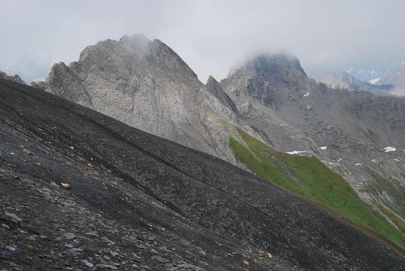 Mont de la Fourclaz e Passage des Trois Moines ormai tra le nuvole