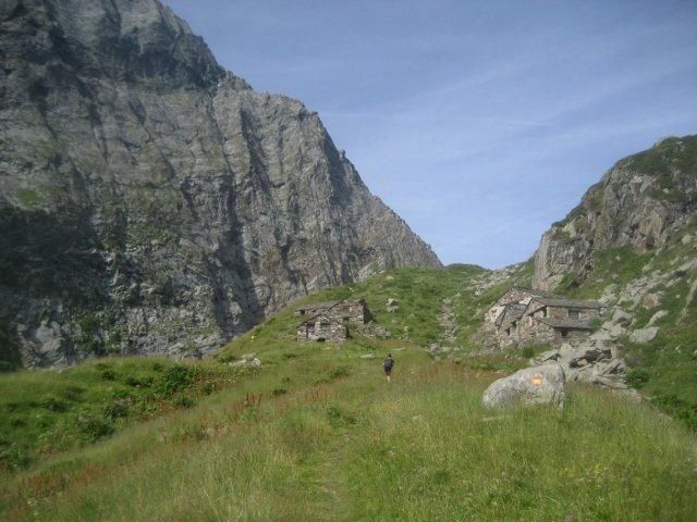 alpe Vorco, al cospetto della parete nord del Tagliaferro