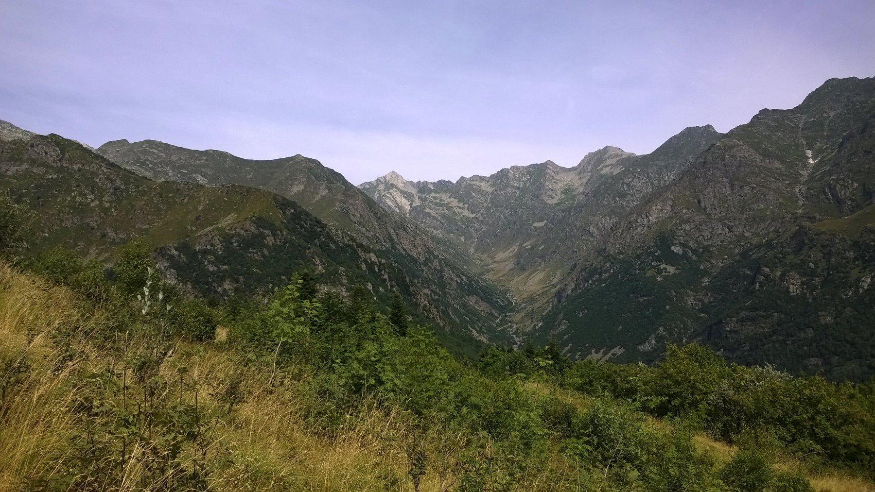 Dall'osservatorio verso il monte Marzo