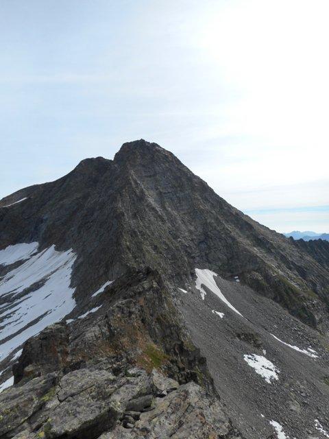 La cresta dalla vetta della Lavinetta
