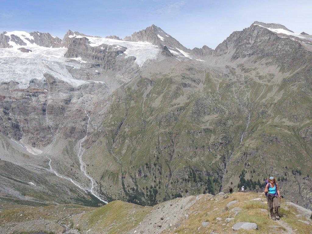 Il sentiero poco prima dell'ultima rampa verso il bivaco