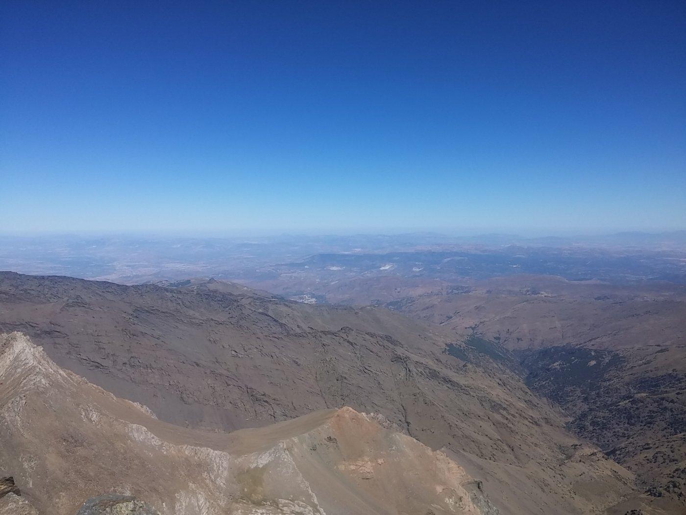 La piana di Granada dalla punta del Mulhacen