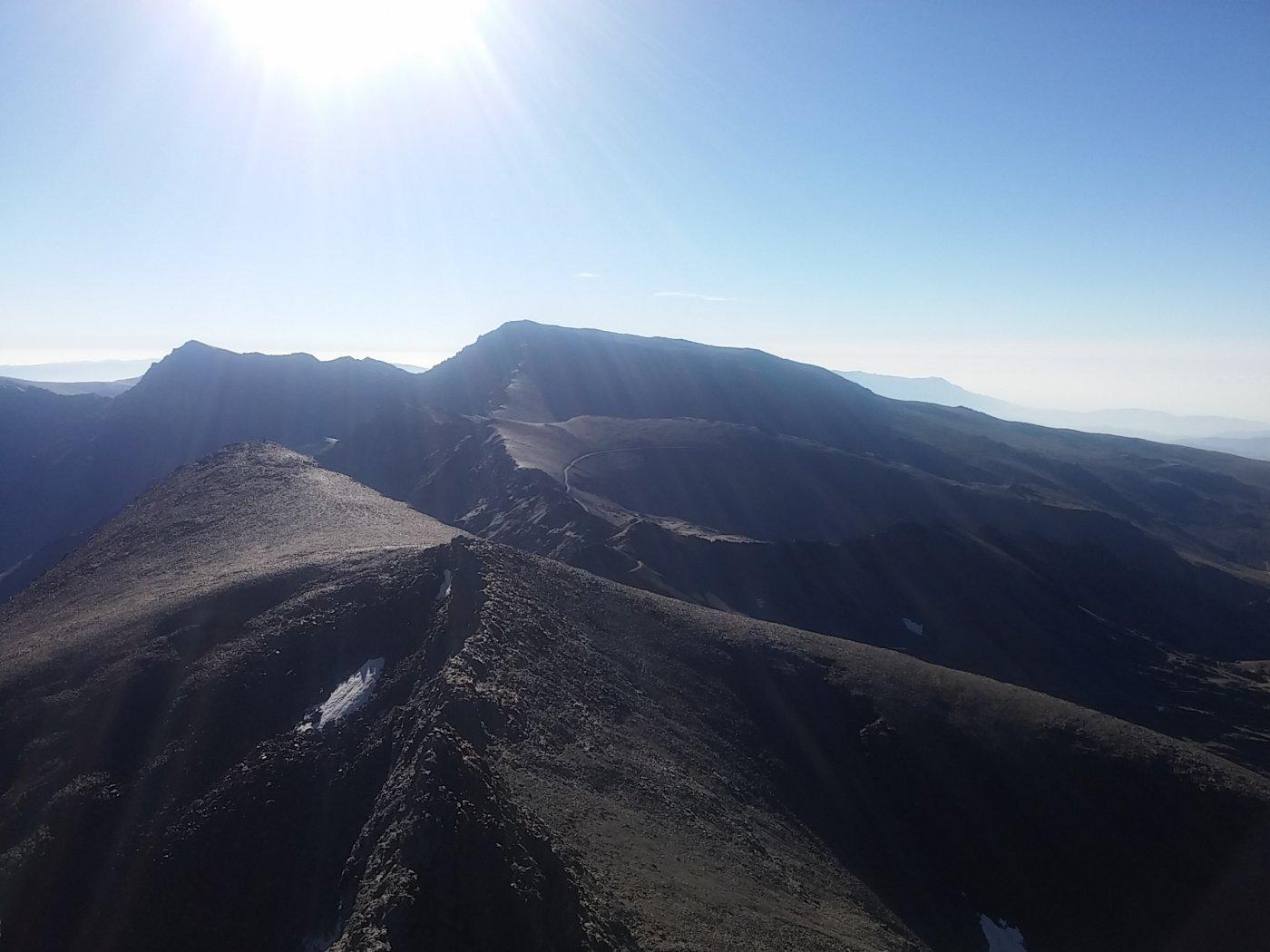 Il Mulhacen dal Pico de Veleta