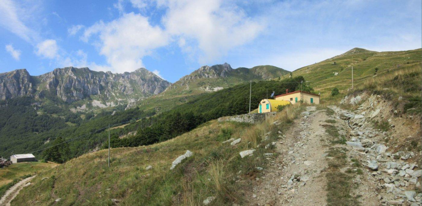 In vista del Rifugio Savona