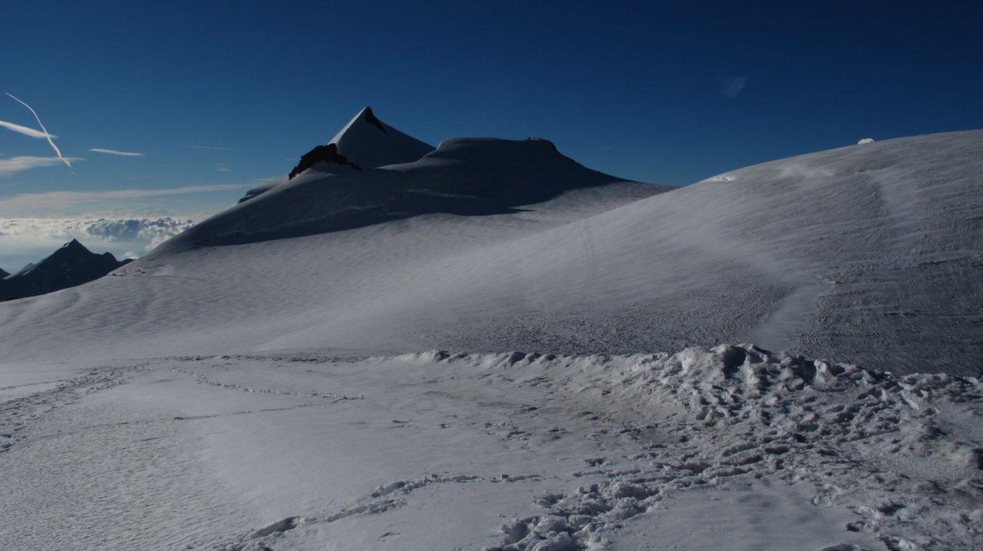 All'Alphubeljoch con l'Allallinhorn sullo sfondo