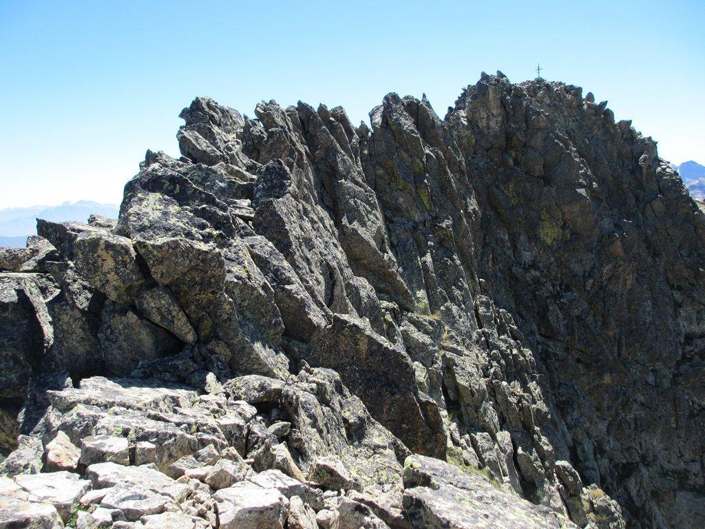La cresta lato ovest
