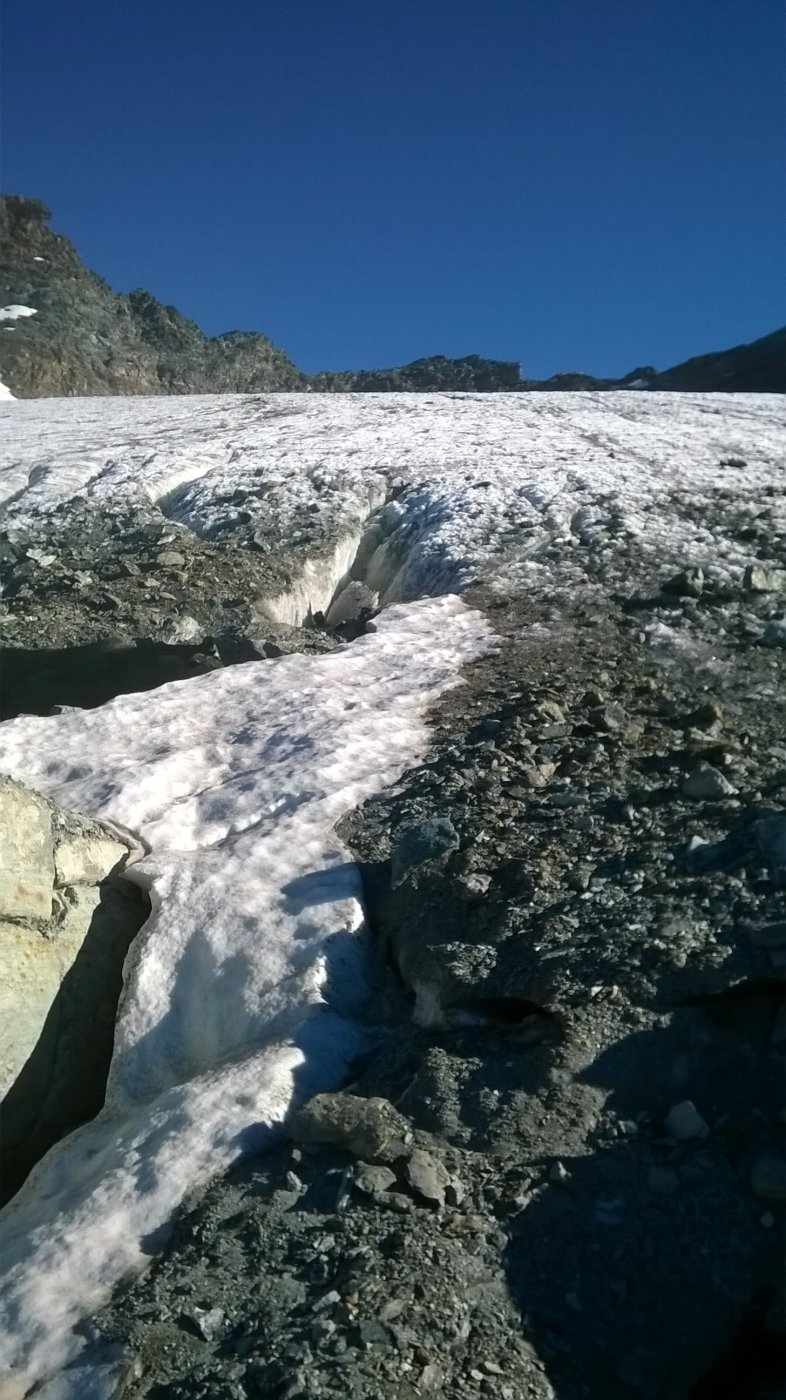 inizio del ghiacciaio