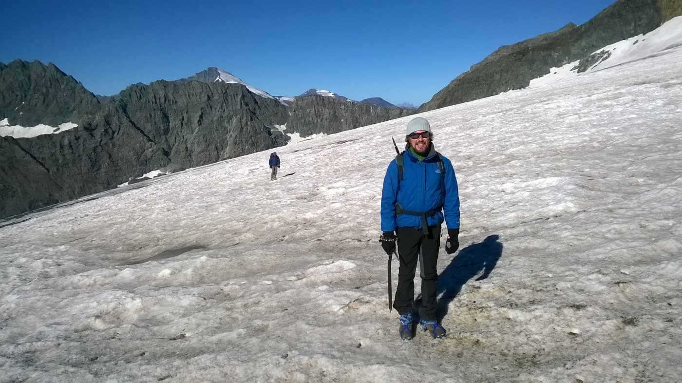 mauro e federico sul ghiacciaio