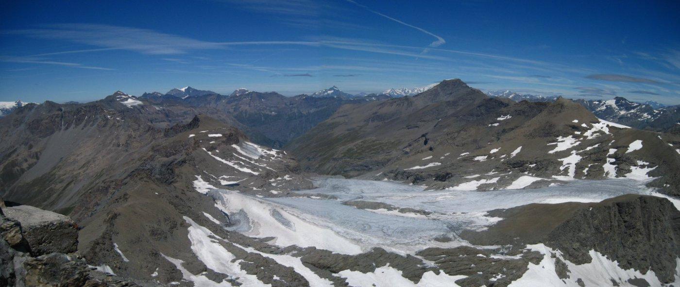 Il povero ghiacciaio del Rocciamelone
