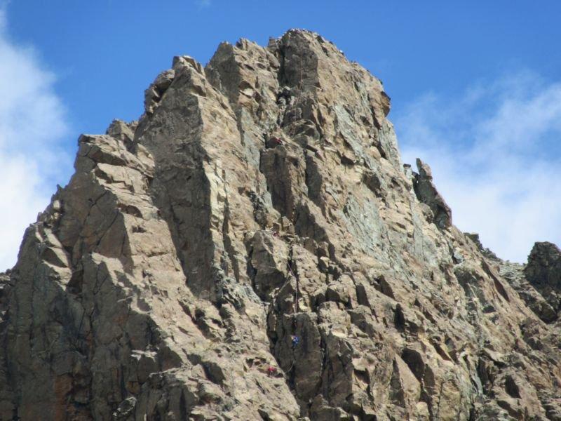 Alpinisti sulla parete