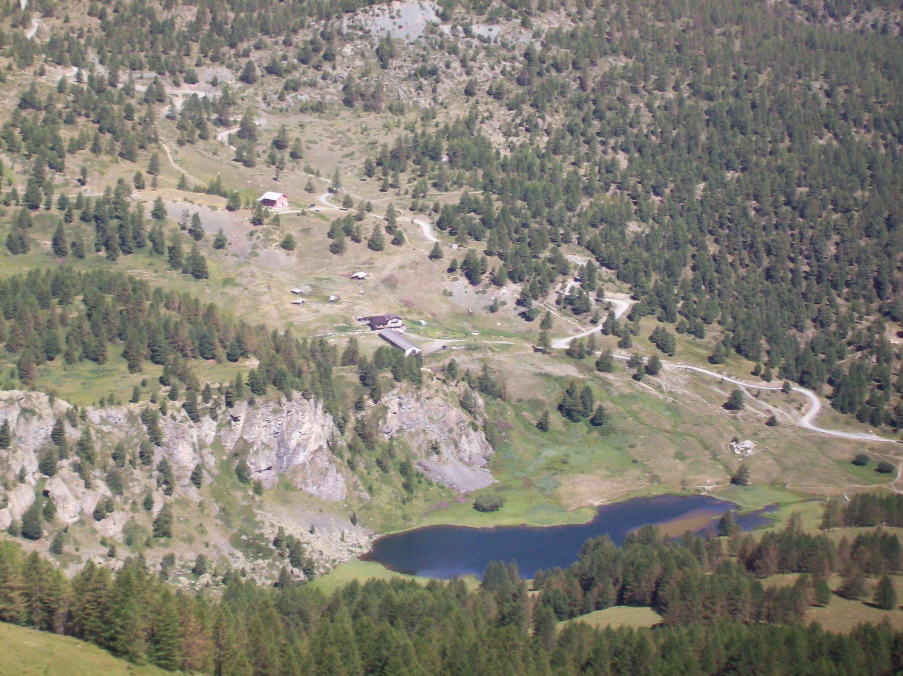 Il Lago Nero dalla cima