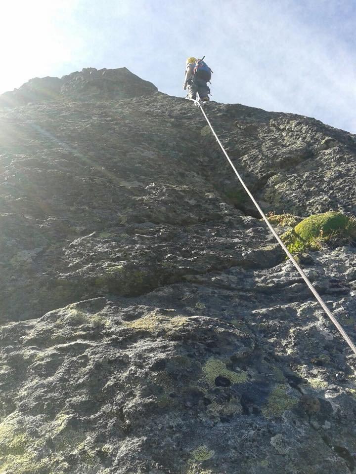 Uno dei primi tratti, roccia bella compatta