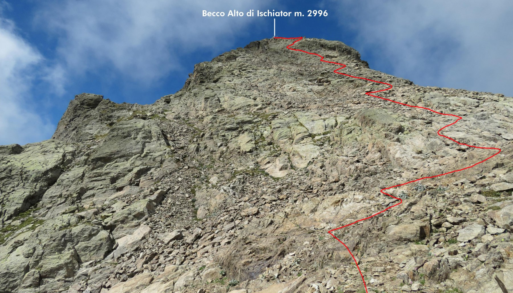 ultimo tratto di salita per la cima (2-8-2015)
