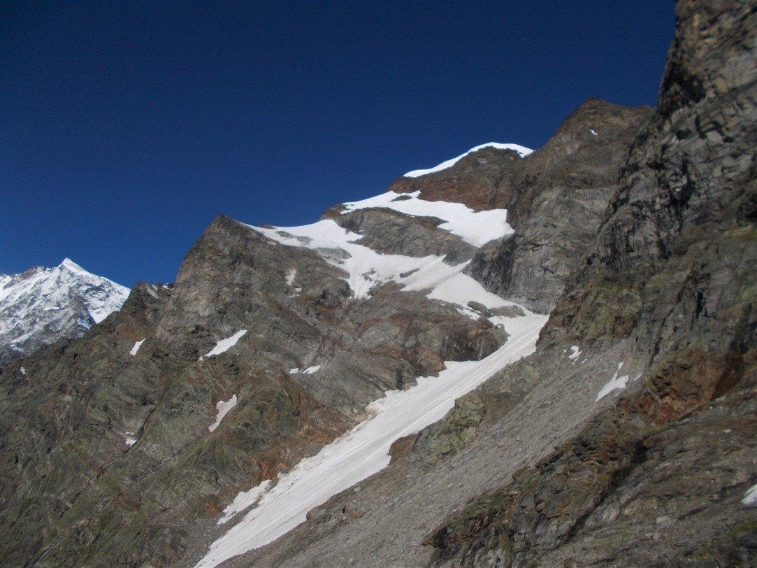 La via delle guide dove il ghiacciaio è ormai un ricordo