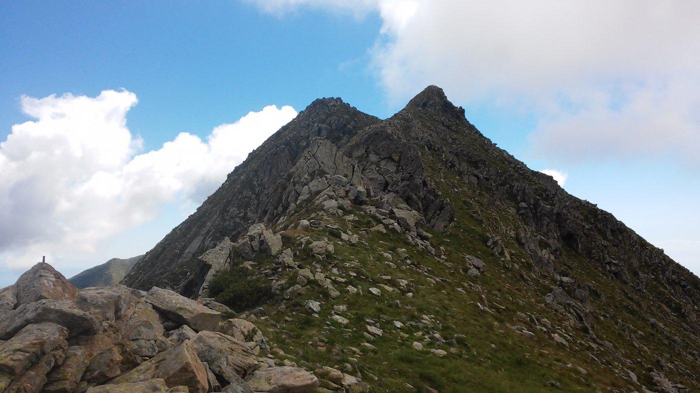 La rocca Maritano mt.2545 vista dal colle della Forcola