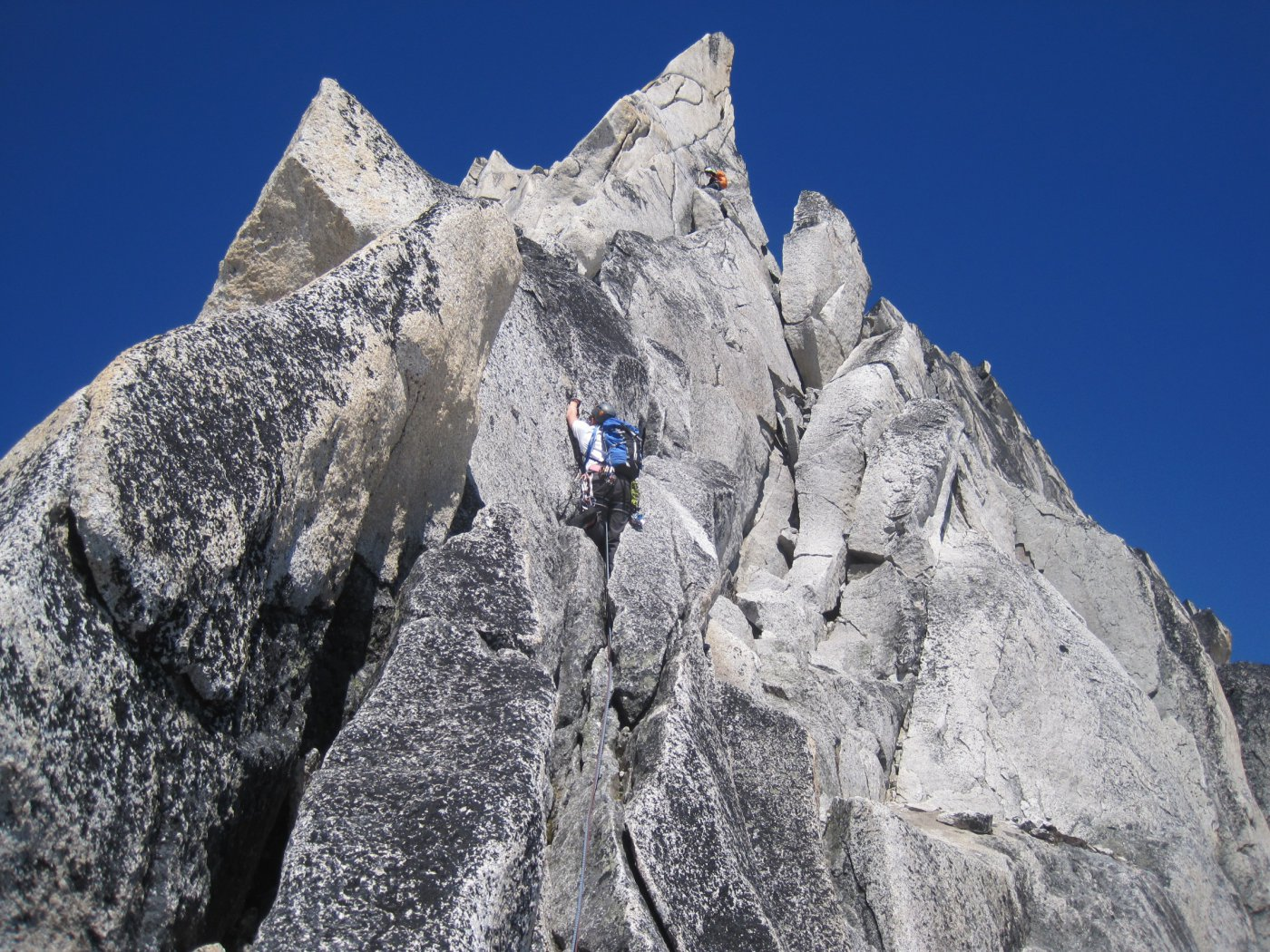 Kain Route on Bugaboo Spire (1916; 5.6; no protections)