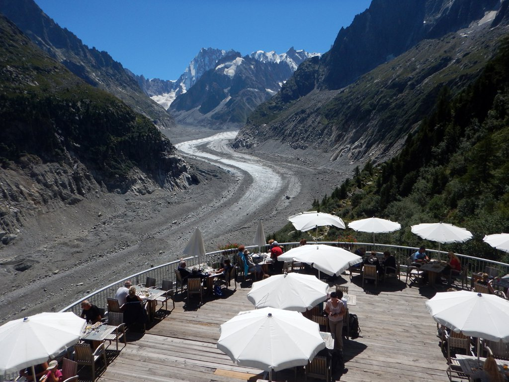 Punto panoramico sul ghiacciaio