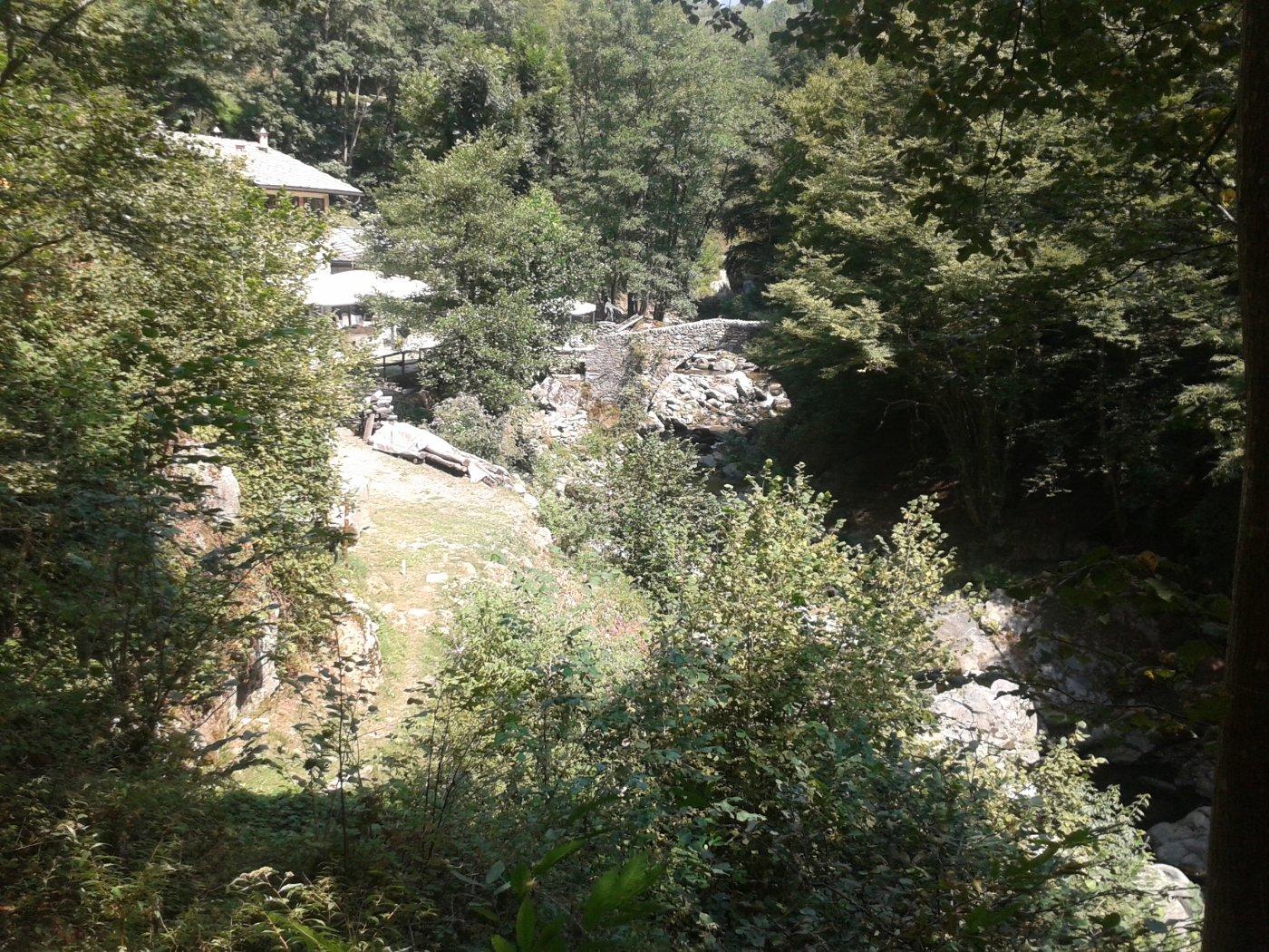 in vista del Mulin Turcin e l'omonimo ponte