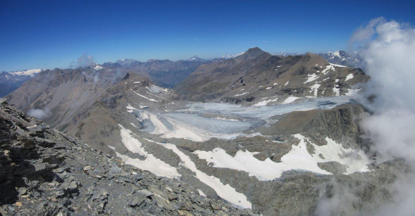 Panorama dalla cima verso nord
