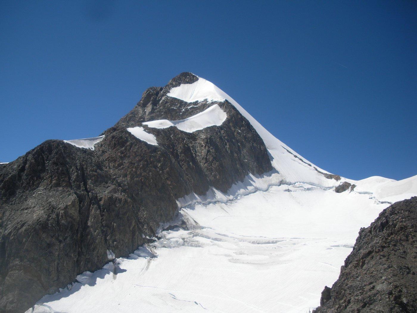 la nostra meta dal Petit Mont Blanc..