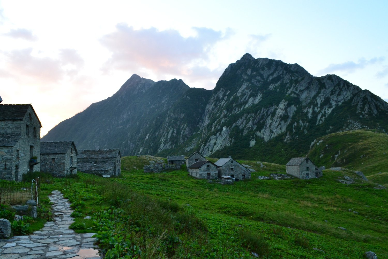 i caseggiati dell'Alpe Selle