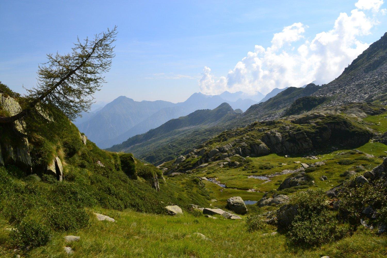 in direzione dell'Alpe Ancium