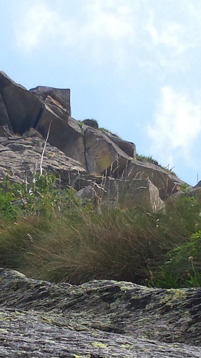 A destra del tetto, fessura del 9° tiro