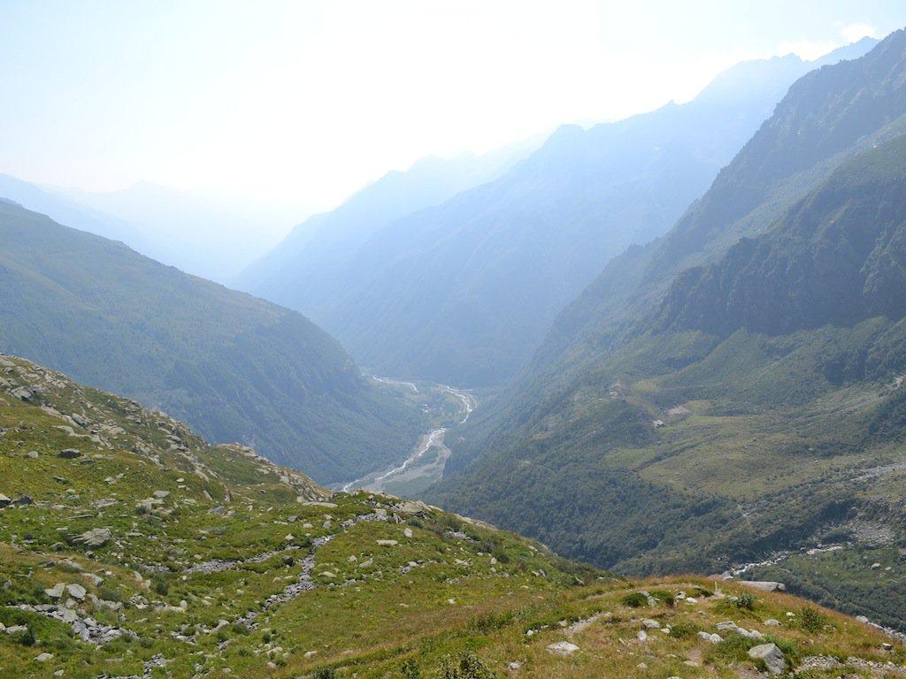 Guardando verso valle