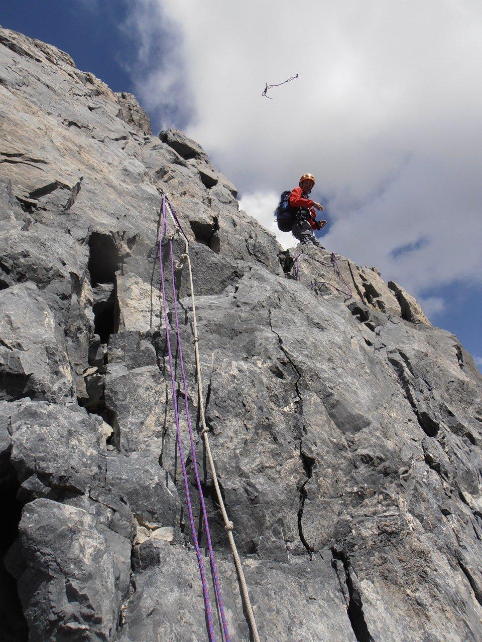 02 - l'attacco della parte alpinistica