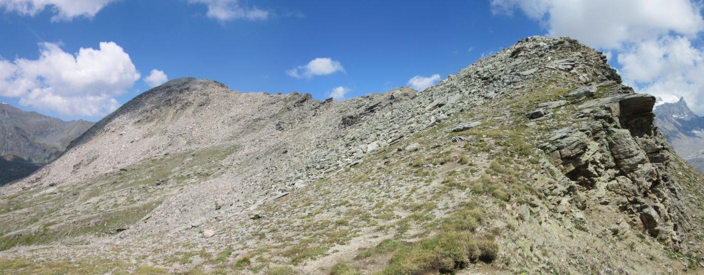 La cresta vista dal colle