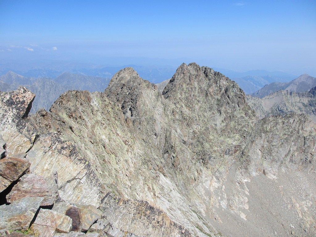 La cima Lourousa e il monte Stella