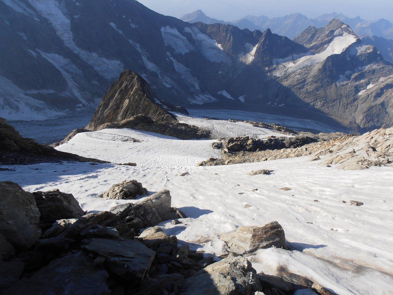15 - fine del ghiacciaio, inizio delle roccette