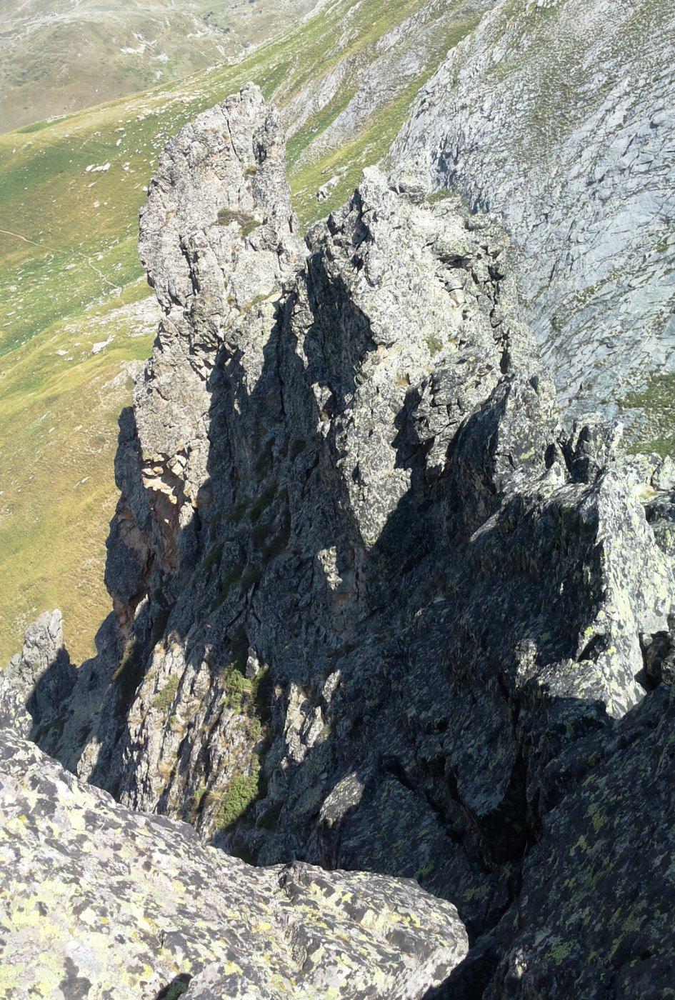 gli arditi pinnacoli della cresta