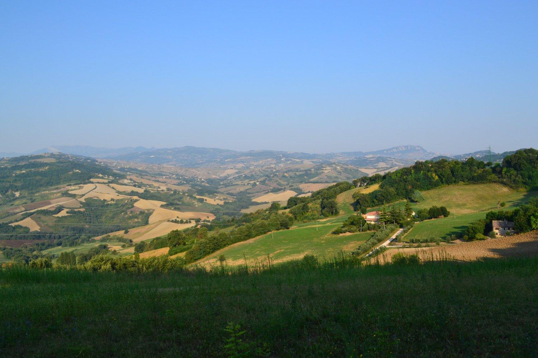 panorama verso le colline riminesi