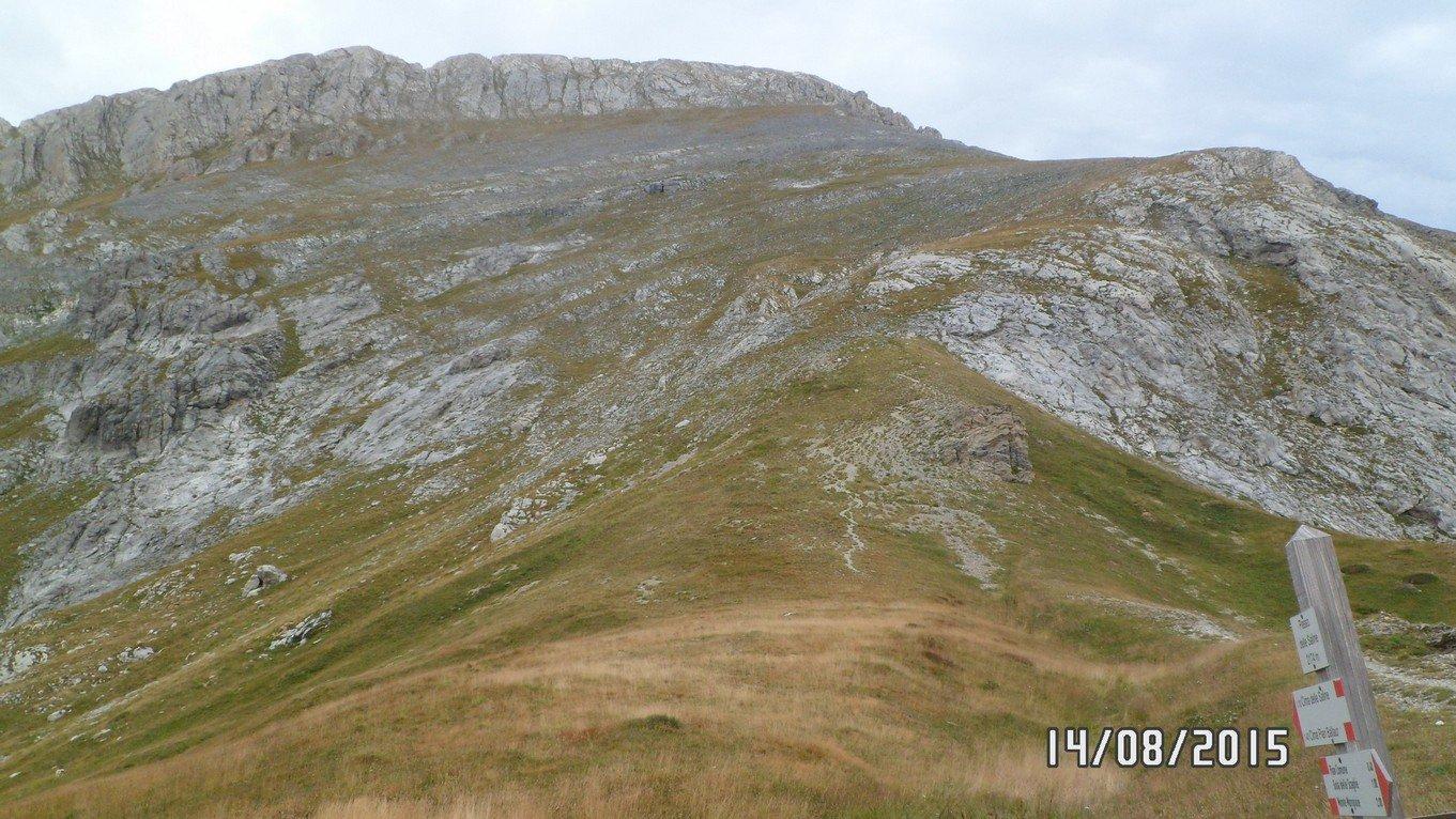 La cima delle Saline vista dal passo delle Saline
