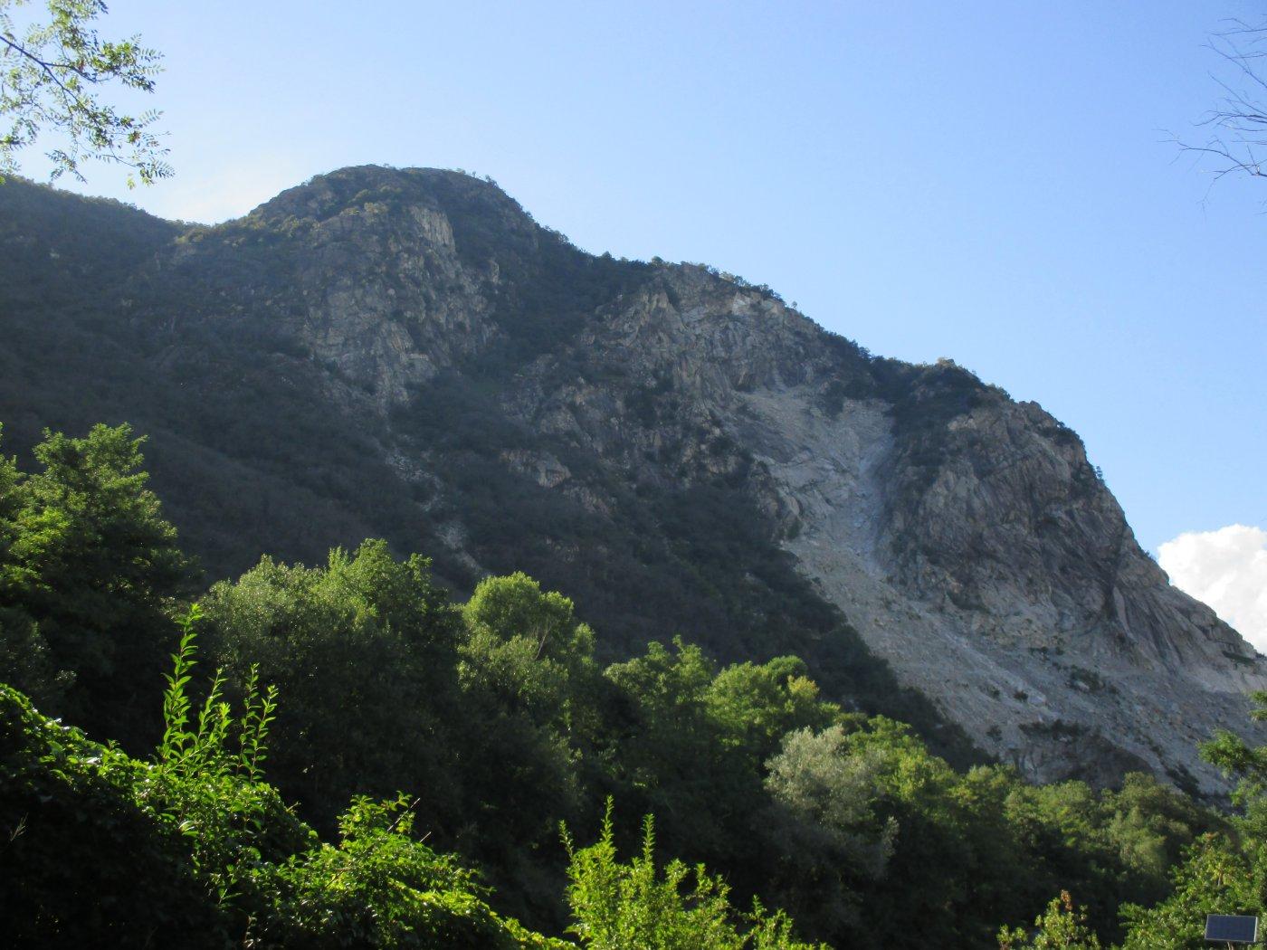 monte Camoscio alla partenza