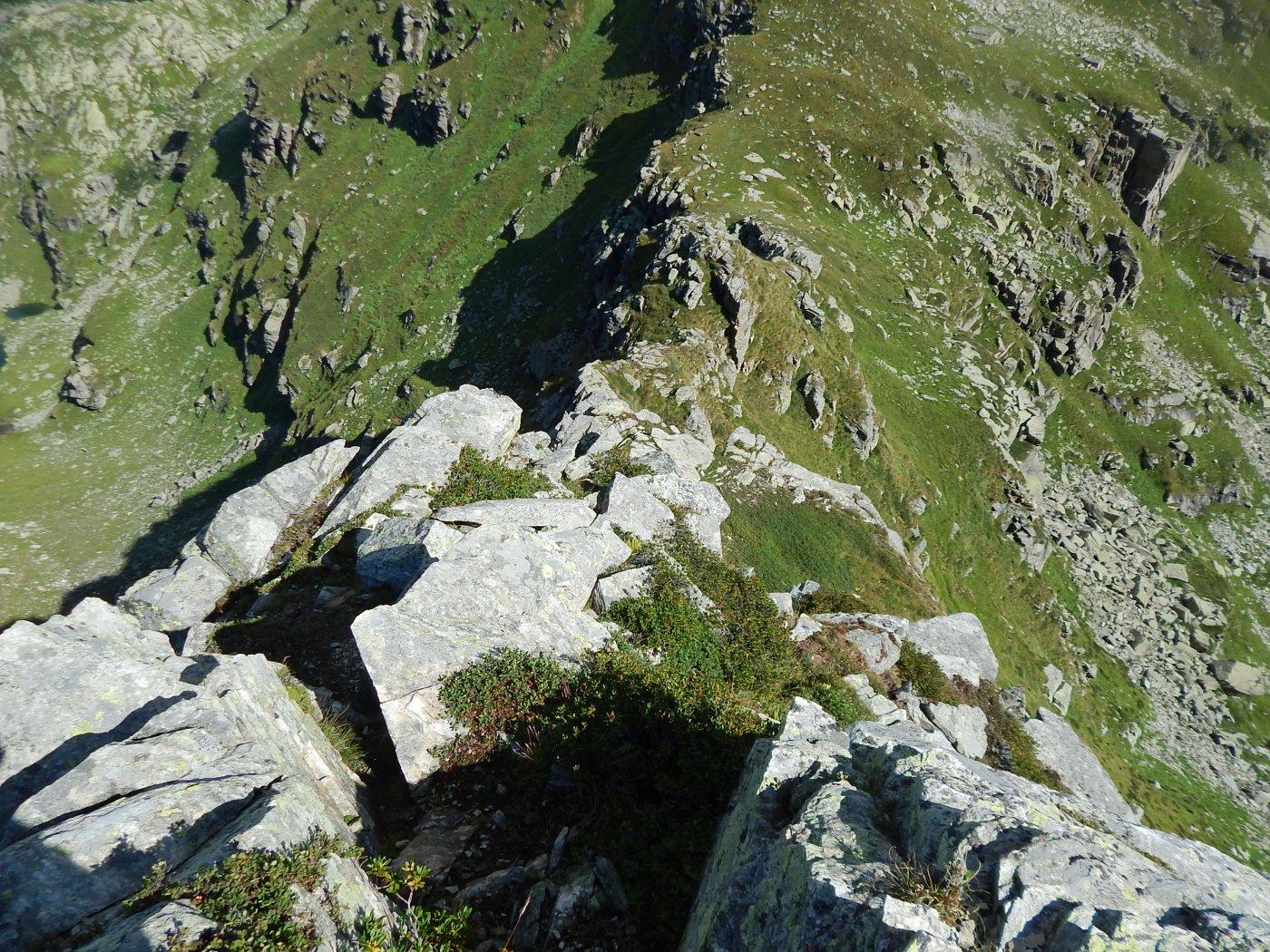 La cresta della Spigo che scende al colle della Forca