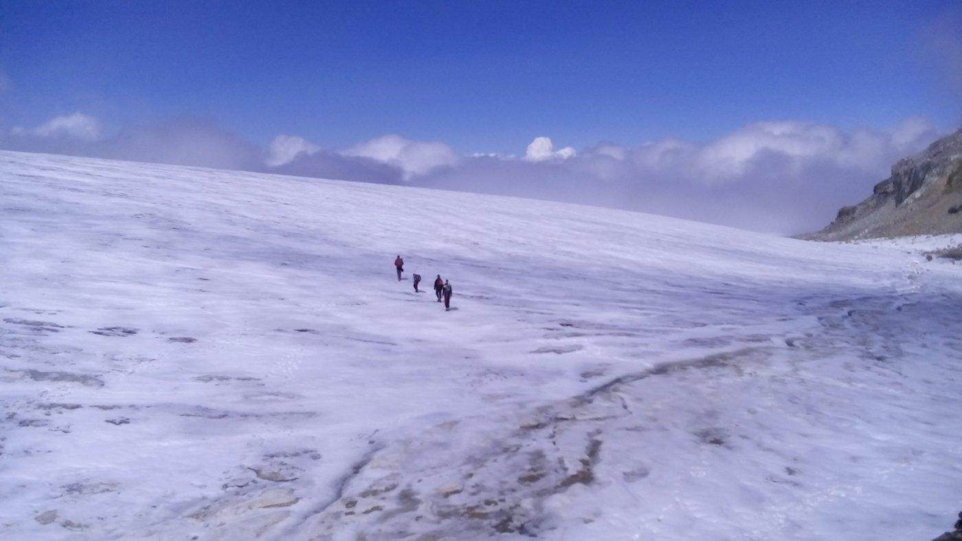 02 - attraversamento del Glacier de la Roche Ferrari