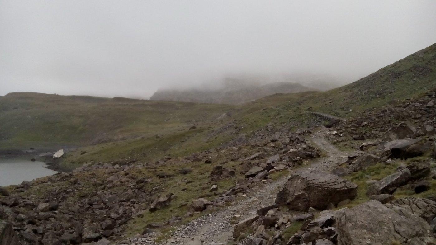 04 - al mattino arrivo al Col de la Vanoise sotto la pioggia