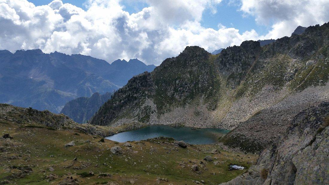 Lago superiore d'Aver visto dall'alto