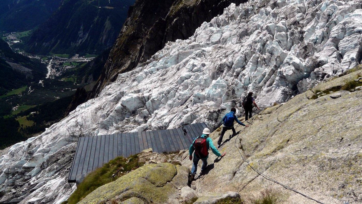 Il povero ghiacciaio di Planpinceaux ormai in decomposizione