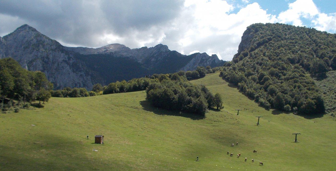 Sullo sfondo il Grignone e alla sua dx la cresta di Piancaformia