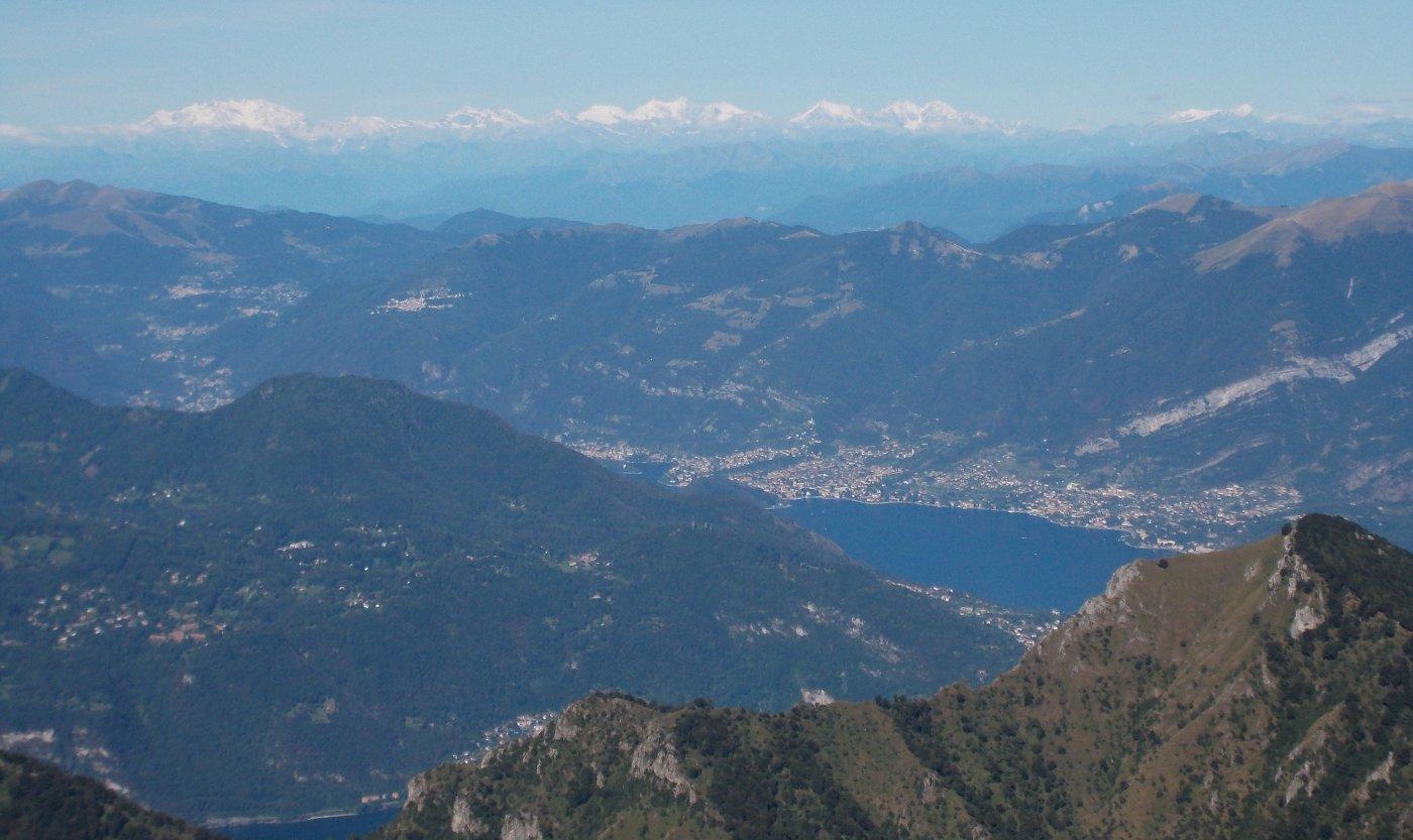 Il lago di Como visto dalla ferrata