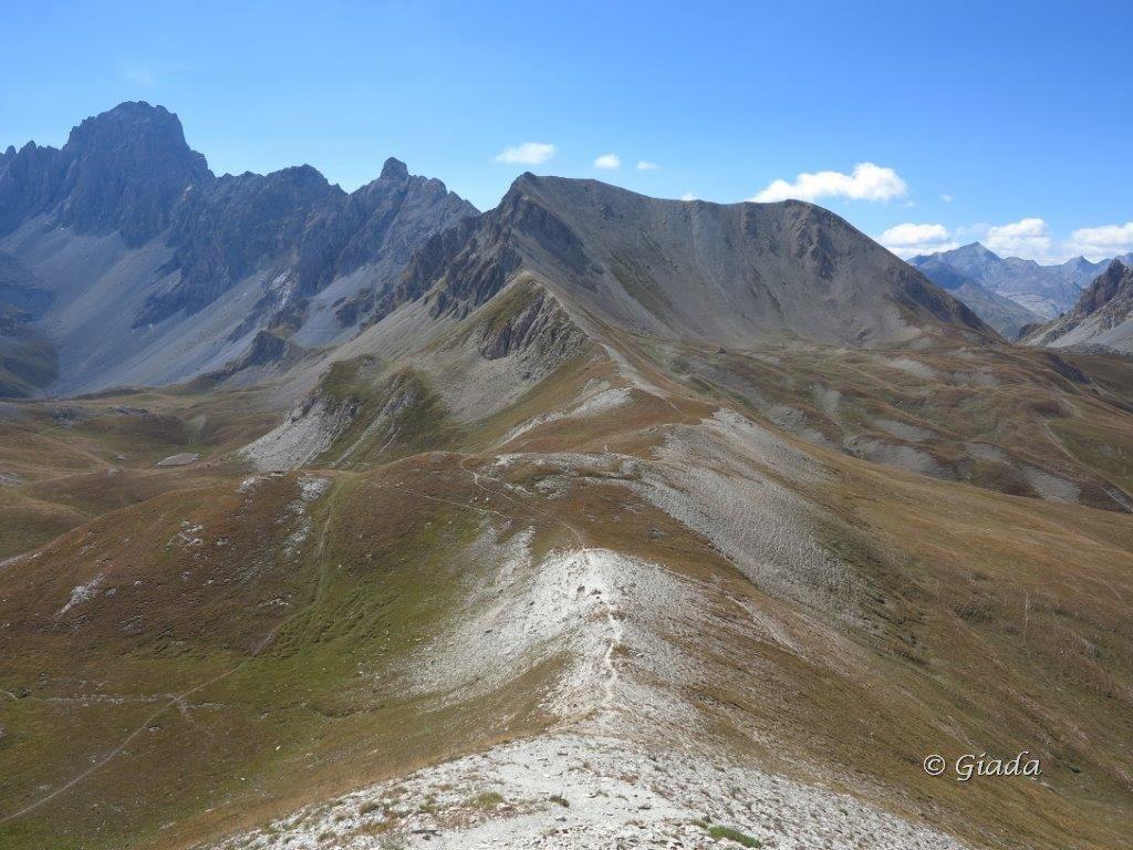 Salendo al Soubeyran vista verso il Colle delle Munie