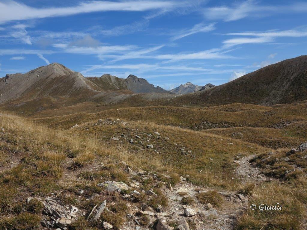 L'altopiano ondulato verso il Soubeyran e il Colle delle Munie