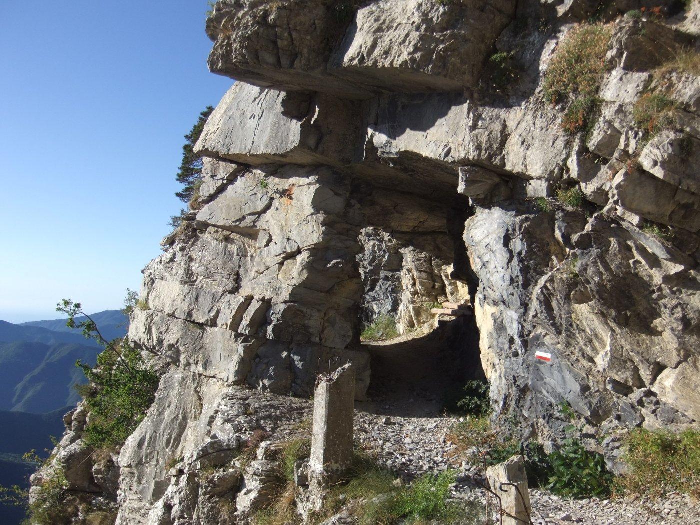 Galleria nella roccia