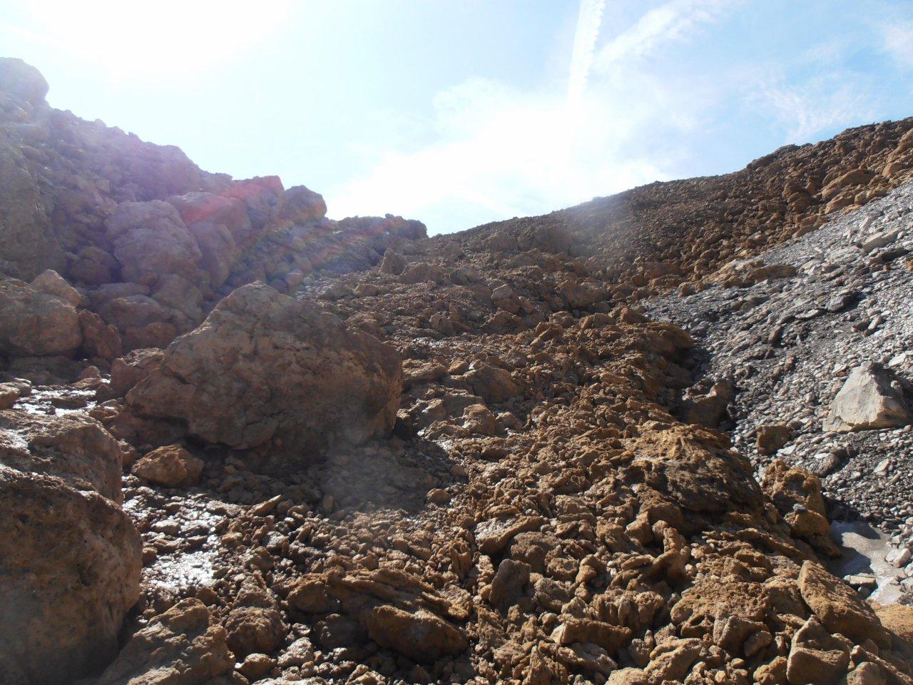 10 - roccioni per arrivare al Col de Roche Noire