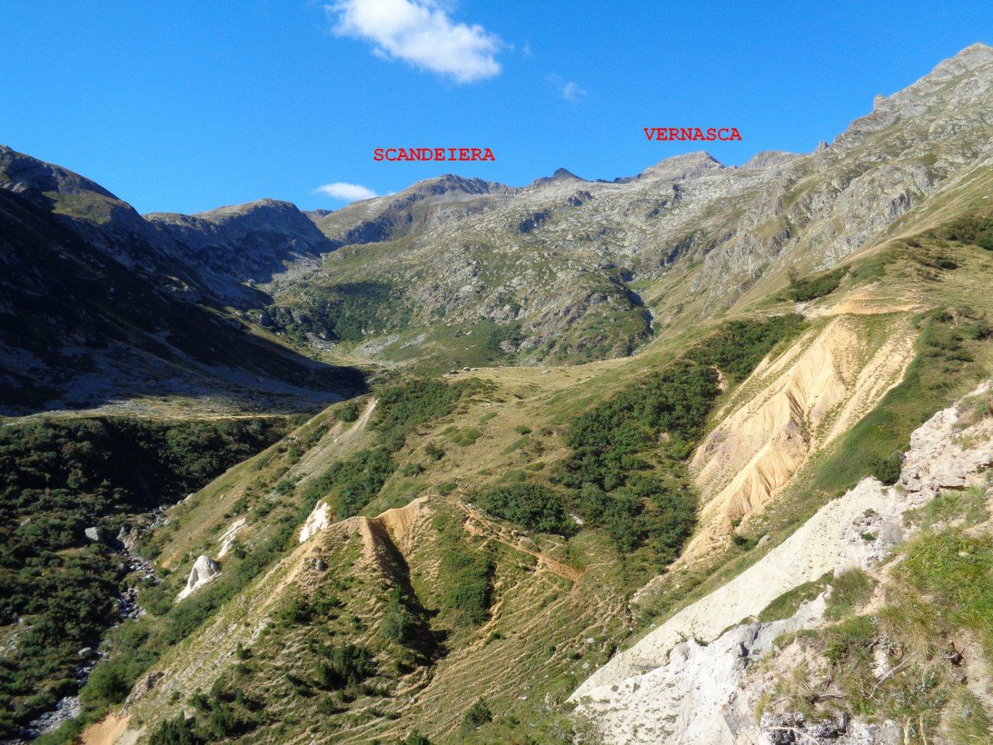 parte alta del vallone del Sabbione