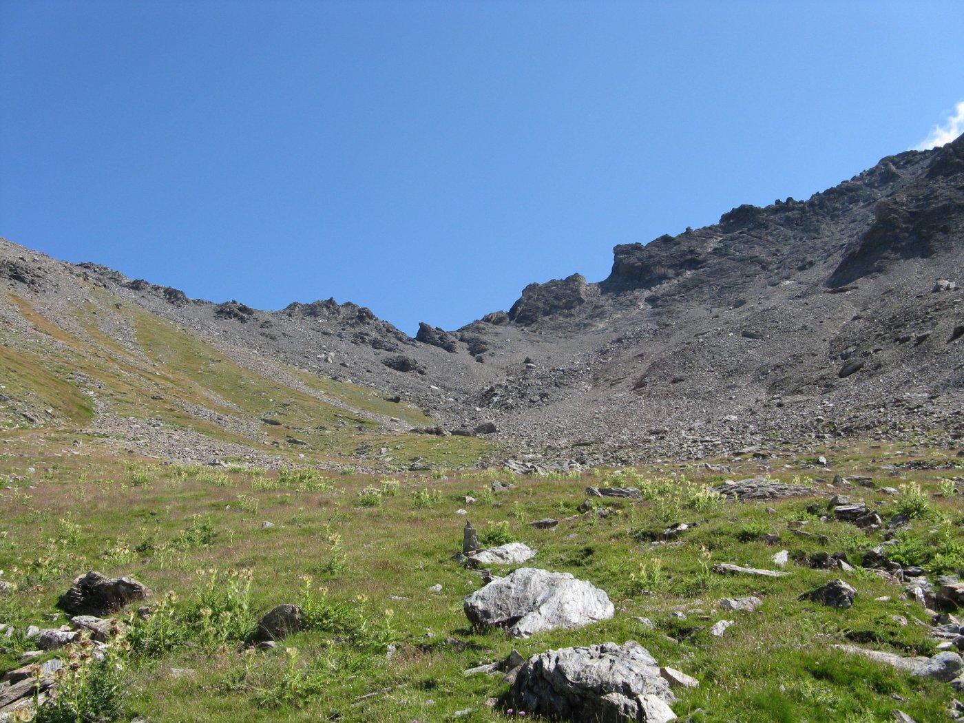 il vallone verso il colle da quota mt. 2600